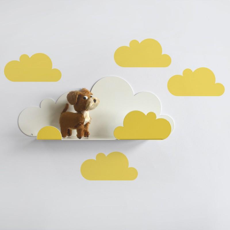 kleines wandregal wolke gelb 38 90. Black Bedroom Furniture Sets. Home Design Ideas