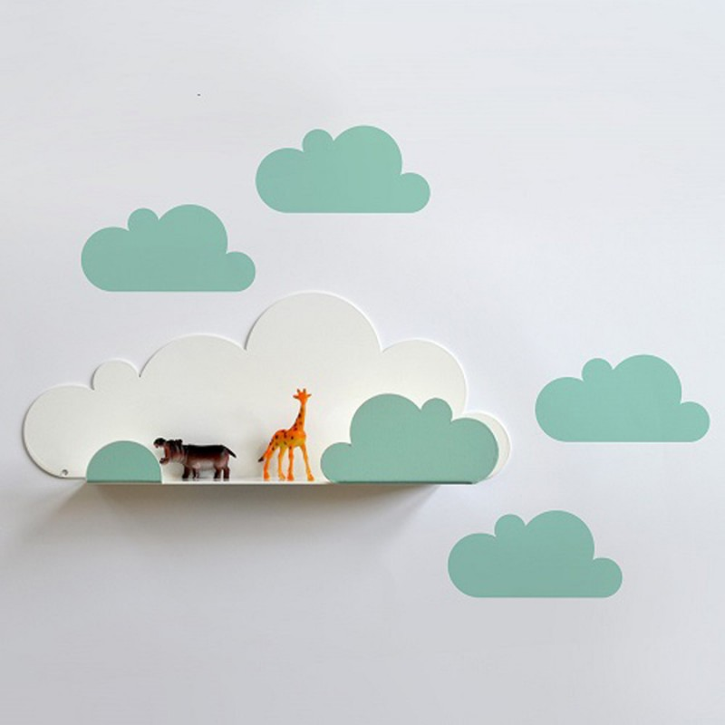 Kleines wandregal wolke mint 38 90 - Kinderzimmer deko mint ...
