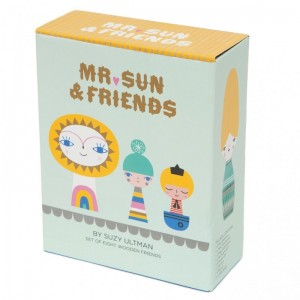 Holzfiguren Mr. Sun & Friends