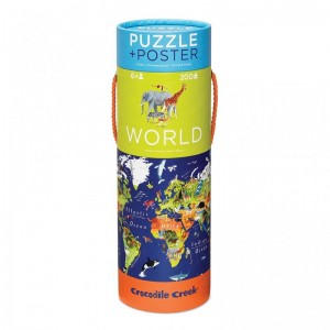 Puzzle mit Poster World 200 Teile