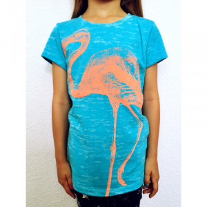 T-Shirt Lucky Fish, Flamingo