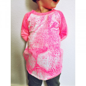 T-Shirt Lucky Fish, Löwe pink