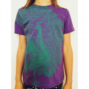 T-Shirt Lucky Fish Pfau lila