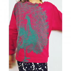 T-Shirt Lucky Fish, Pfau