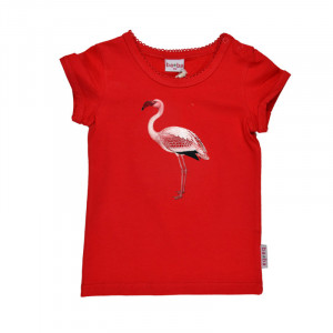 baba: T-Shirt Flamingo, rot