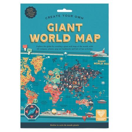 Spielset / Bastelset Große Weltkarte