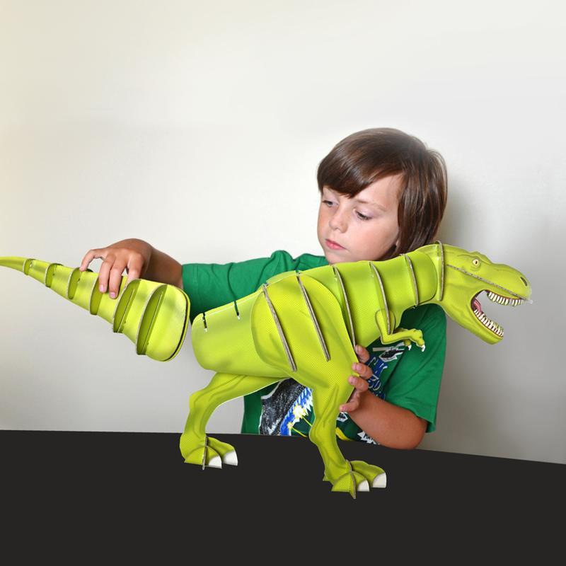 bastelset großer dinosaurier trex von clockwork soldier