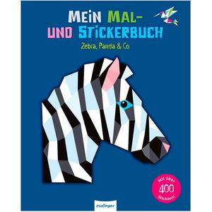 Mal- & Stickerbuch Zebra, Panda & Co