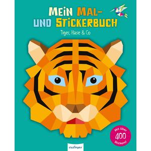 Mal- & Stickerbuch Tiger, Hase & Co