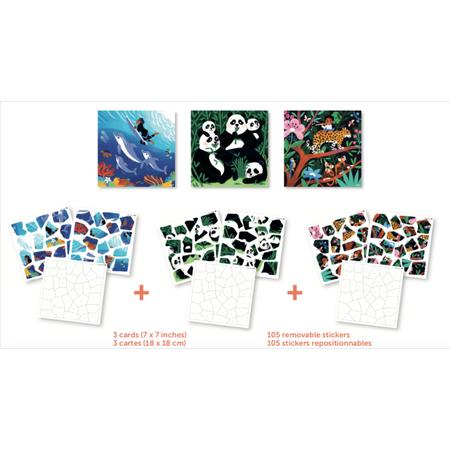 Stickerpuzzle Wild Animals