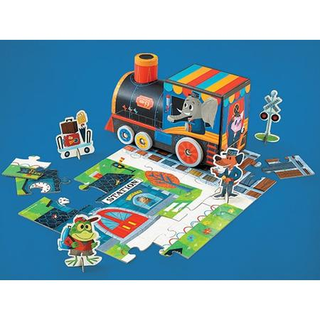 Puzzle mit Spielfiguren Train Station