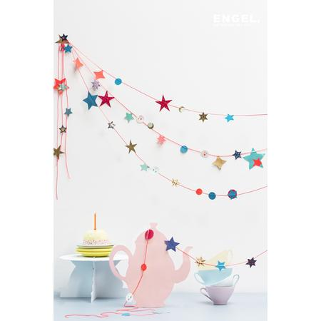 Girlande Happy Stars pink, Bastelset