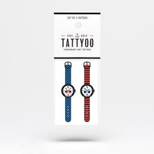 Tattoo-Set Strange Watch