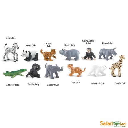 Tierfiguren Zoo Babies, 12er Set