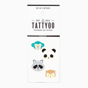 Tattoo-Set Funny Animals