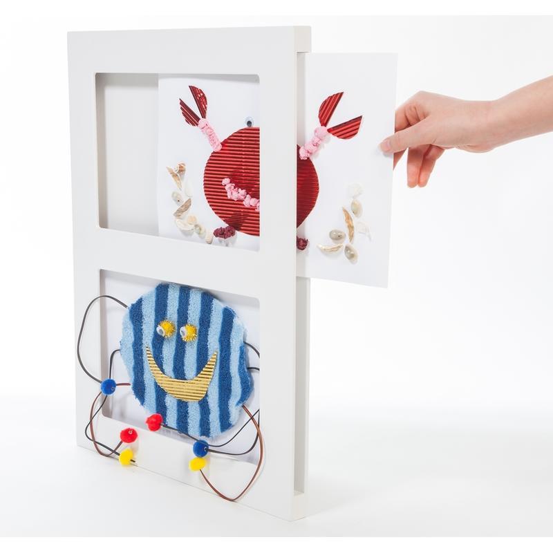Bilderrahmen für Kinderkunst, A4 doppelt, weiß, 29,90 &eur