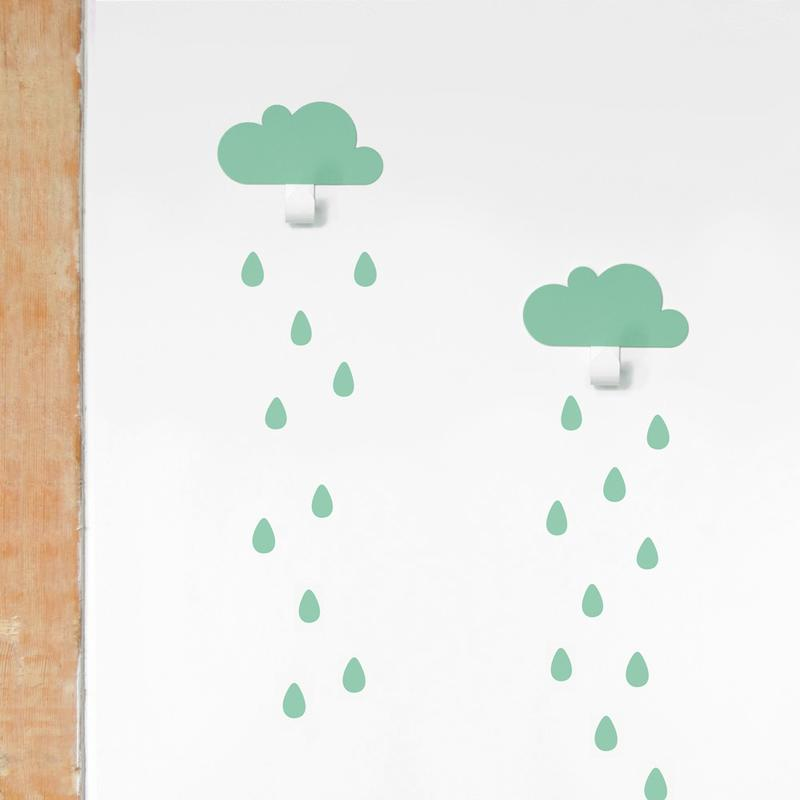 2 kleine wolken als garderobe von tresxics 34 90 - Kleine wandhaken ...