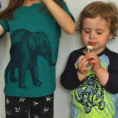 T-Shirt Lucky Fish Elefant petrol