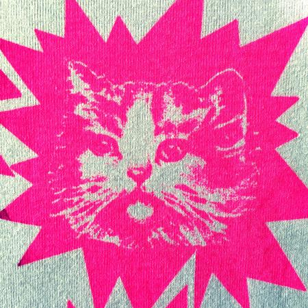 T-Shirt Lucky Fish, Katzen pink