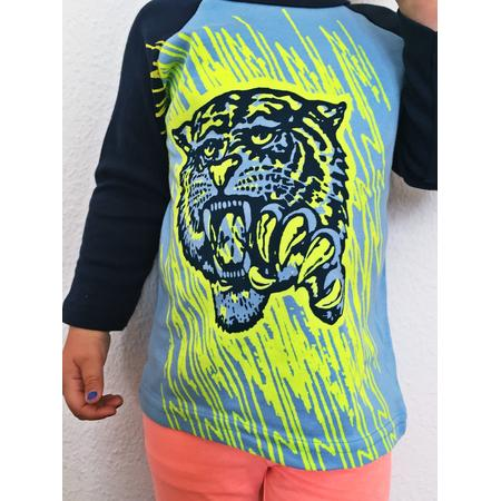 T-Shirt Lucky Fish, Tiger neon